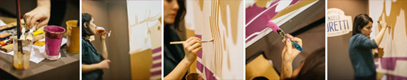 paola rollo painting vinitaly picame poretti illustration